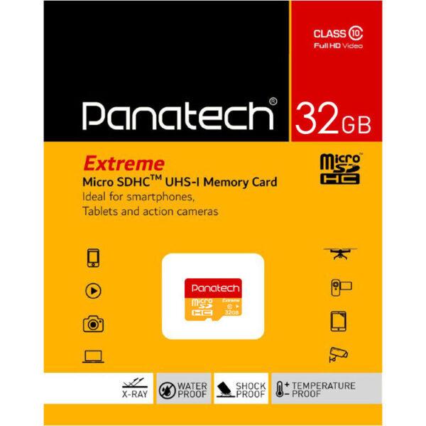 کارت حافظه میکرو اس دی Panatech سری Extreme ظرفیت 32 گیگابایت