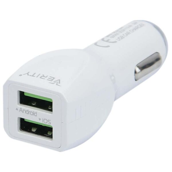 Verity C 1115 12W 2.4A 2Port Car Charger With Micro USB Cable 5