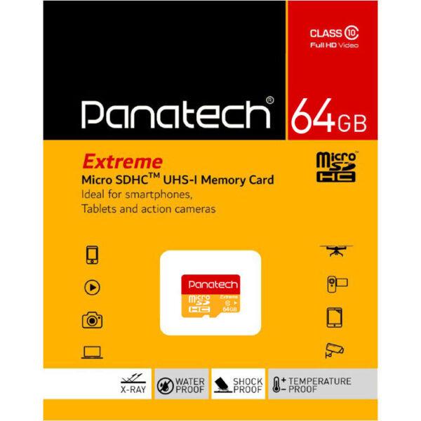 کارت حافظه میکرو اس دی Panatech سری Extreme ظرفیت 64 گیگابایت