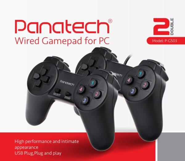 دسته بازی دوبل شوک دار مدل P-G503P پاناتک