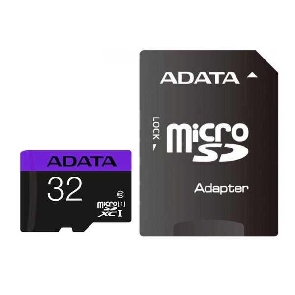کارت حافظه microSDXC ای دیتا مدل Premier V10 A1 کلاس 10 استاندارد UHS-I سرعت 100MBps ظرفیت 32 گیگابایت