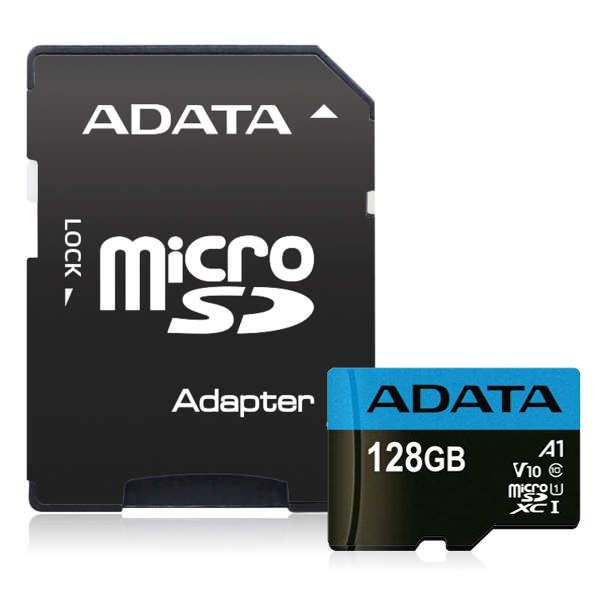 کارت حافظه microSDXC ای دیتا مدل Premier V10 A1 کلاس 10 استاندارد UHS-I سرعت 100MBps ظرفیت 128 گیگابایت