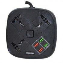 سه راهی برق کلومن مدل KS-C1 + شارژر USB