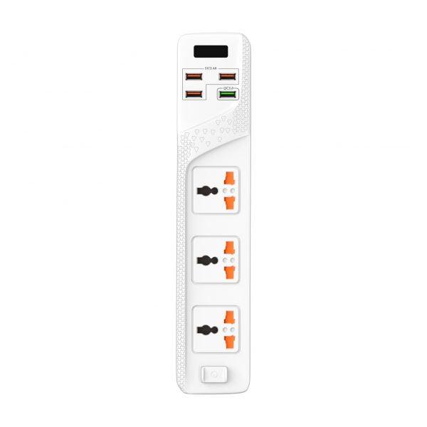 سه راهی برق کلومن مدل KS-C2 + شارژر USB