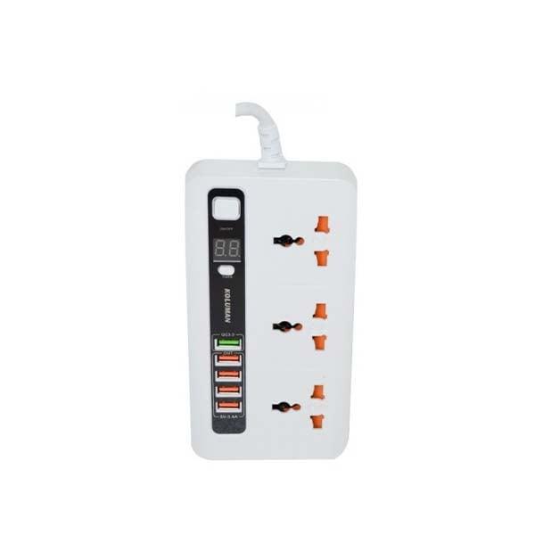 سه راهی برق کلومن مدل KS-C3 + شارژر USB